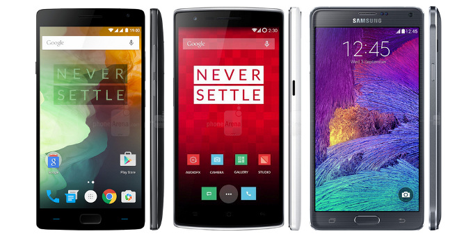 OnePlus 2 vs OnePlus One vs Samsung Galaxy Note 4