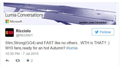 Prossimo top di gamma Lumia sarà Forte, Sottile e Veloce