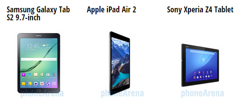 Samsung Galaxy Tab S2 VS Apple iPad Air 2 VS Sony Xperia Z4 Tablet