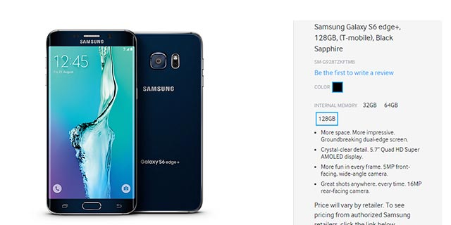 Versione Samsung Galaxy s6 edge plus