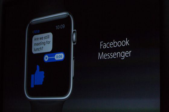 Facebook Messenger, iTranslate apple watch