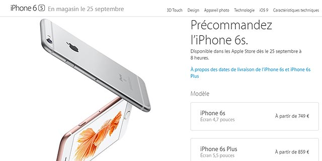 Pre-Ordini iPhone 6S e 6S Plus