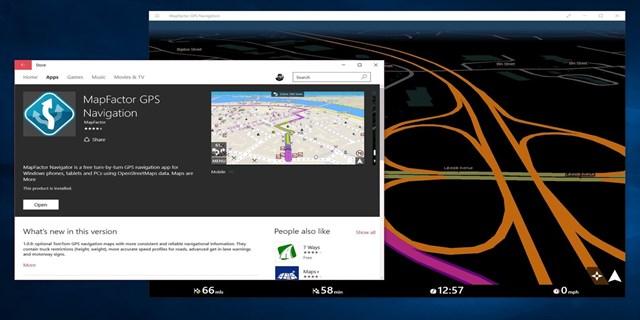MapFactor GPS per Windows 10