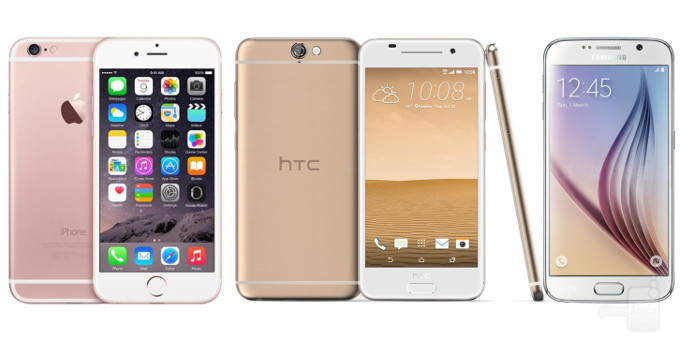 HTC One A9 vs Apple iPhone 6s vs Samsung Galaxy S6