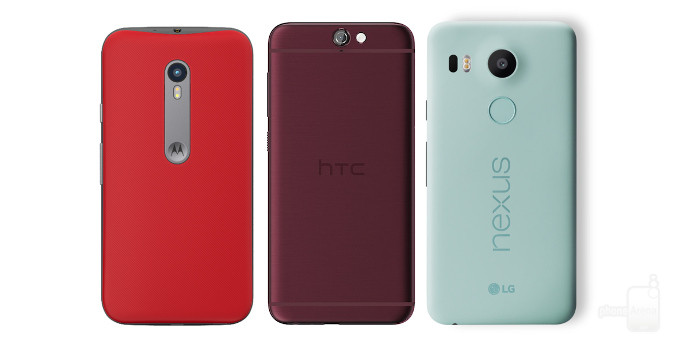 HTC One A9 vs Motorola Moto G (2015) vs Google Nexus 5X