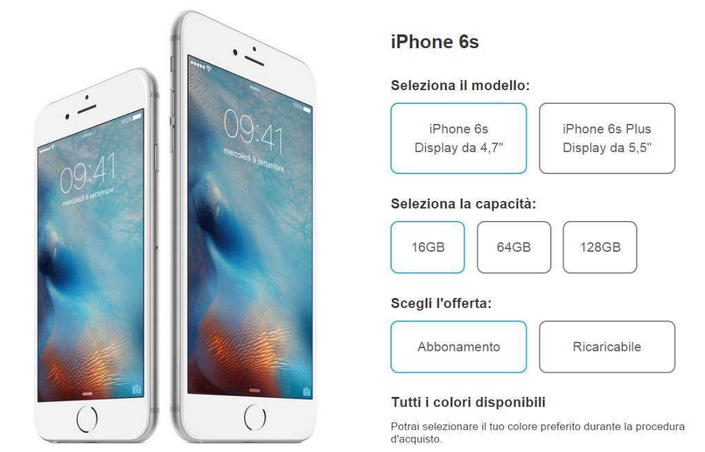 Offerta iPhone 6s e 6s Plus con 3 Italia