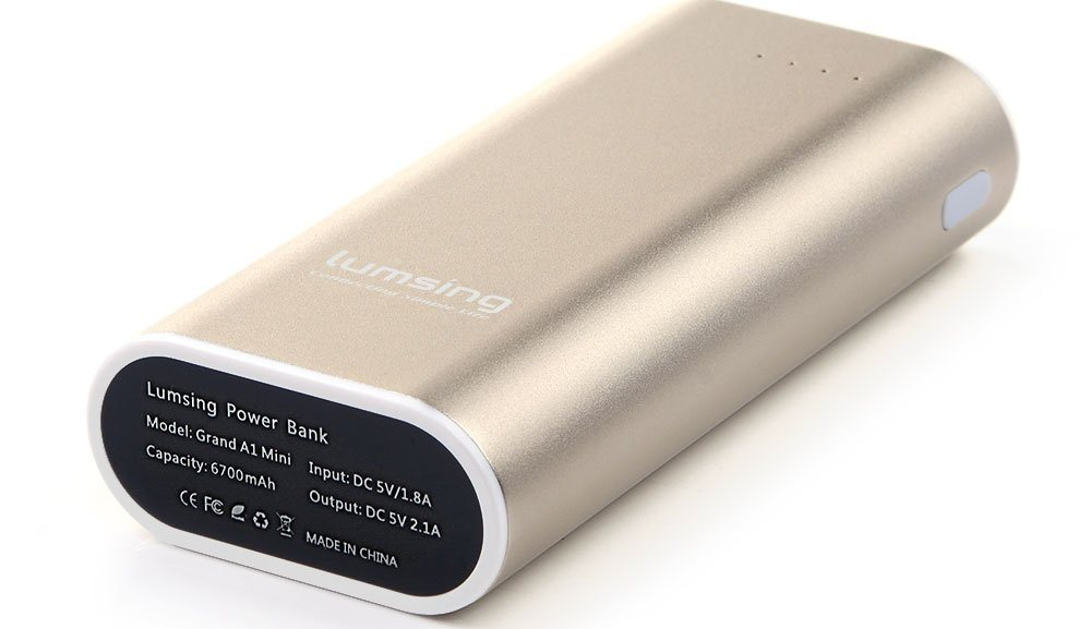 Offerta Power Bank 6700 mAh Lumsing