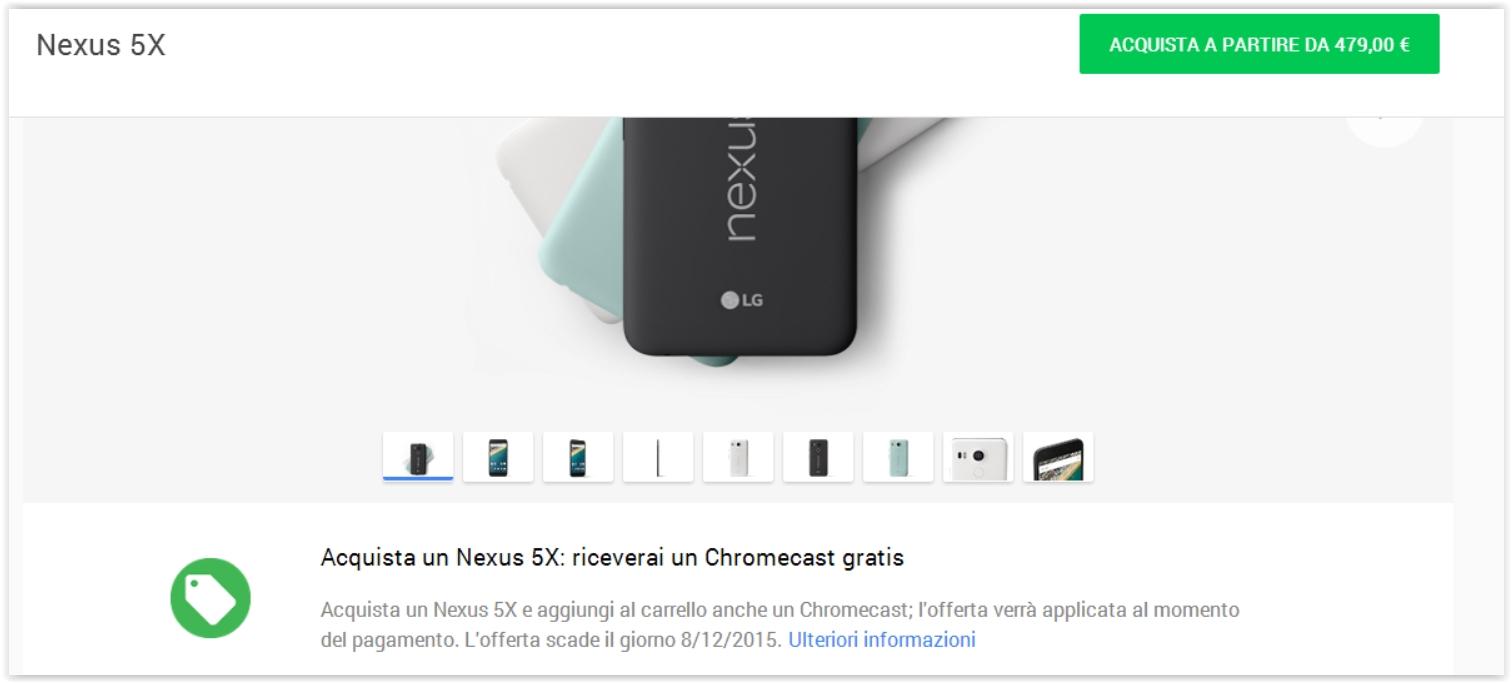 PreOrdine Nexus 5x