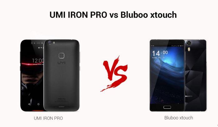 UMi Iron Pro vs Bluboo Xtouch
