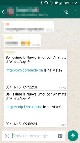 emoticon whatsapp spam