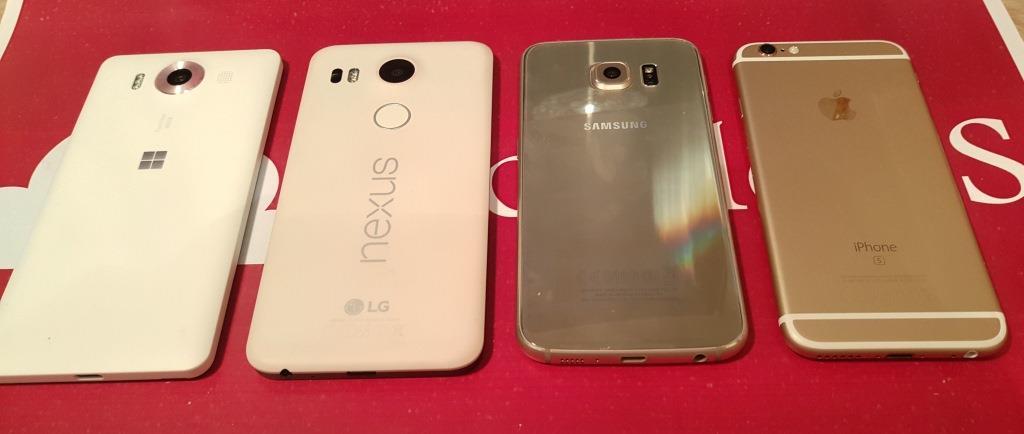Galaxy S6 VS iPhone 6S VS Lumia 950 VS Nexus 5x (2)