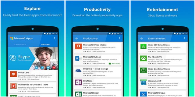 Microsoft Apps su Android