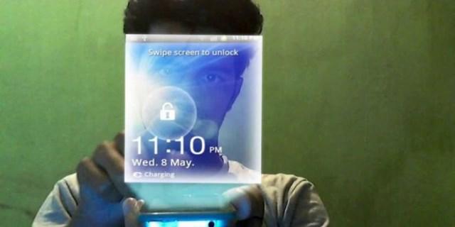 Samsung con display 3D olografico