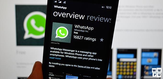 Aggiornamento whatsapp Windows Store