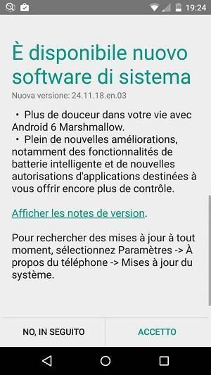 Aggiornamento Moto X Play Android 6.0 Marshmallow