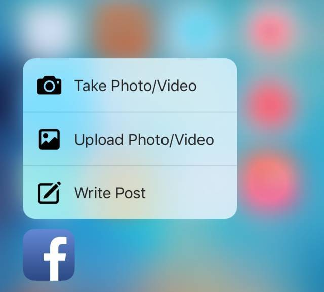 Nuove Features 3D Touch Facebook