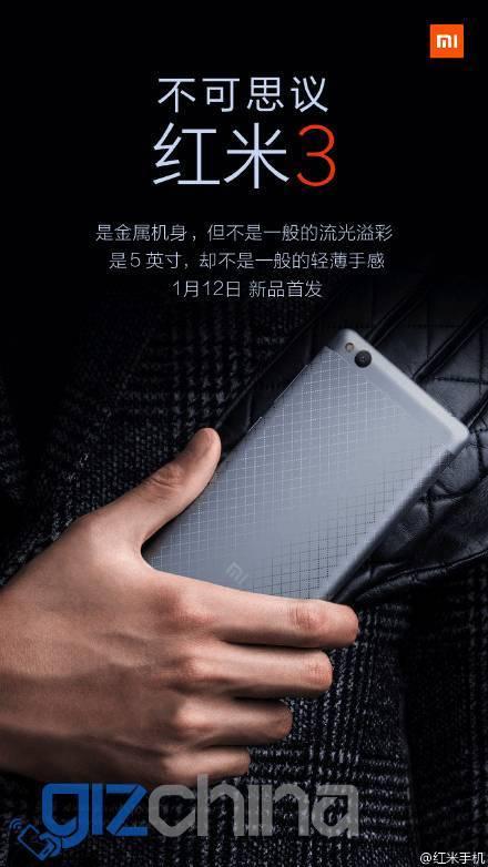 Specifiche Xiaomi Redmi 3