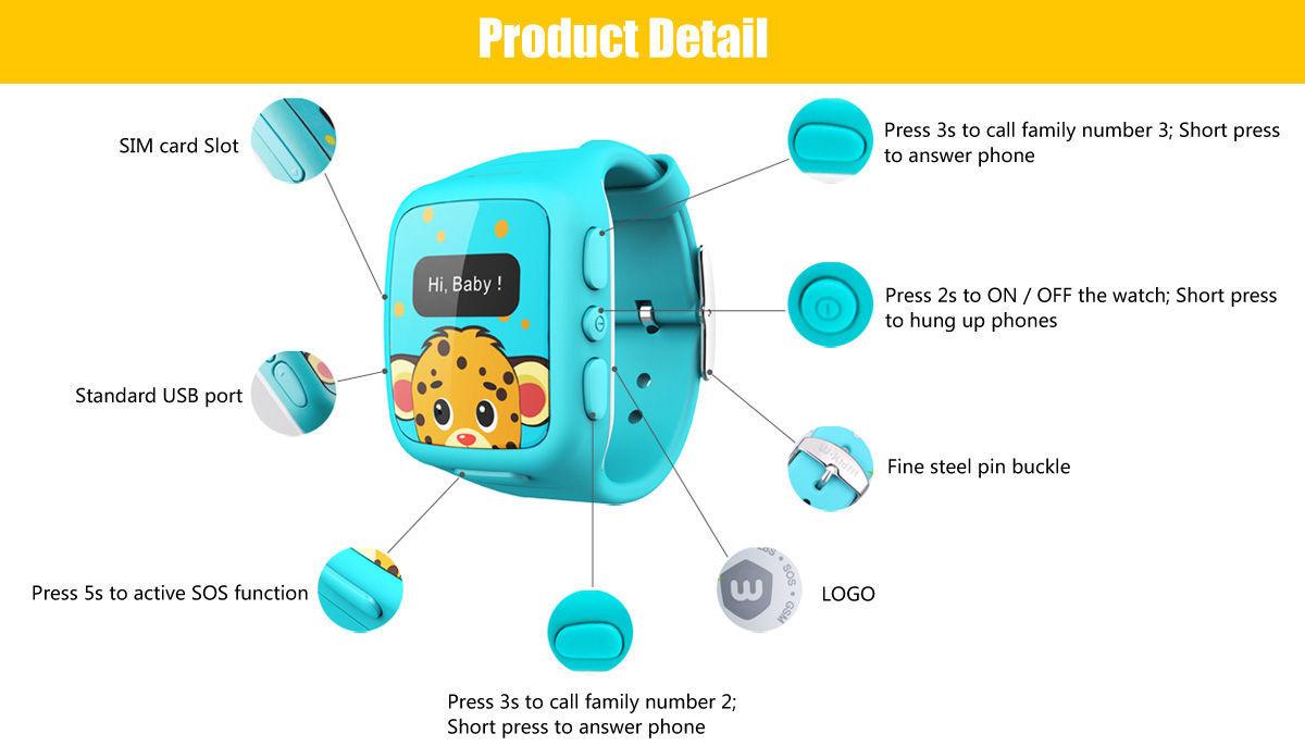 Umeox W268 Smartwatch per Bambini con GPS e funzioni telefoniche 1451541734720493