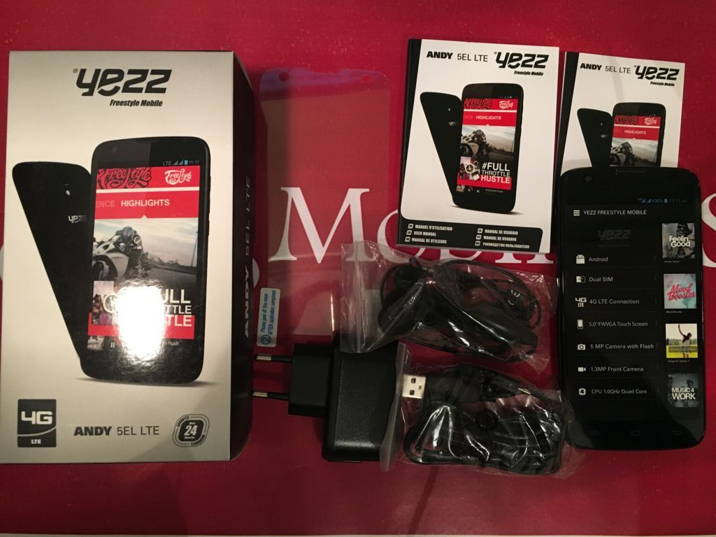Unboxing YEZZ ANDY 5EL LTE