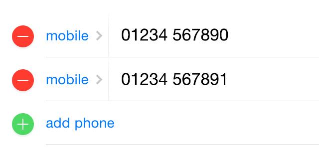 Unire contatti multipli iPhone