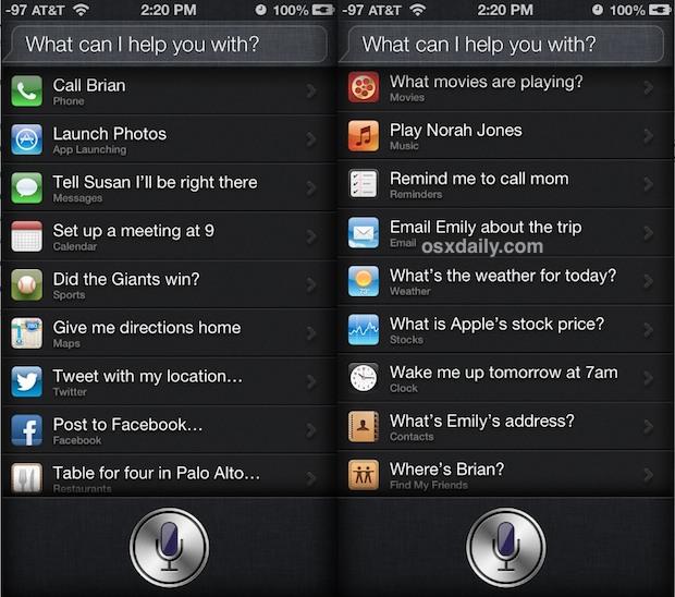 Usare Comandi Segreti Siri