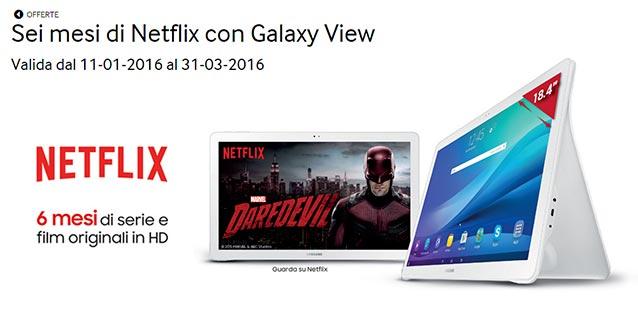 Promozione Samsung Galaxy View