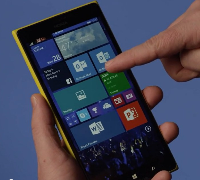 update Windows 10 Mobile