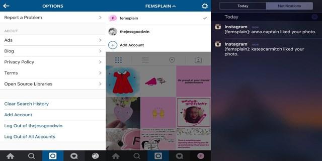multi-account Instagram iPhone