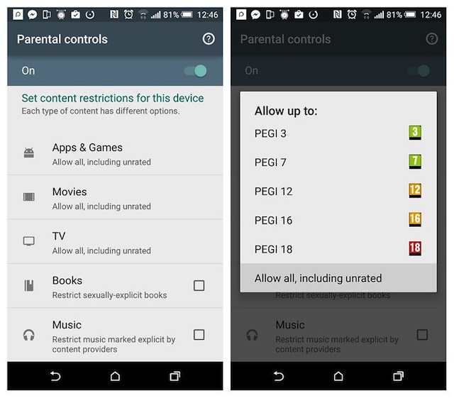 Gestire Parental Control Android
