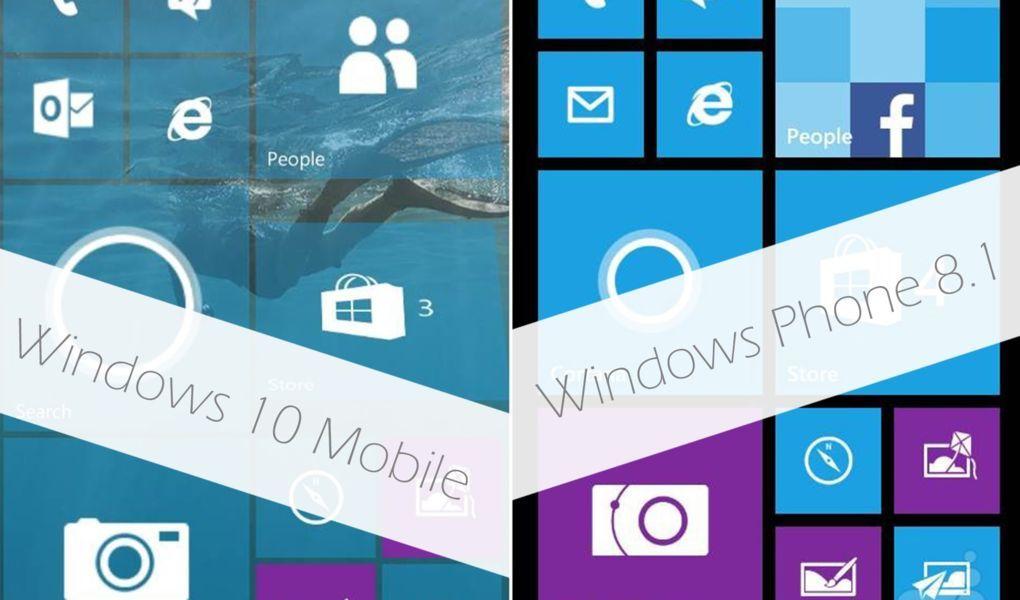 Windows 10 Mobile vs Windows Phone 8.1