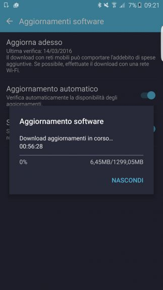 Aggiornamento Galaxy S6 Edge+ Marshmallow 6.0.1