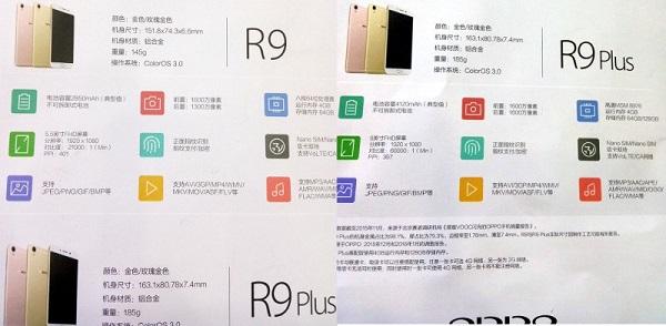 Caratteristiche Oppo R9