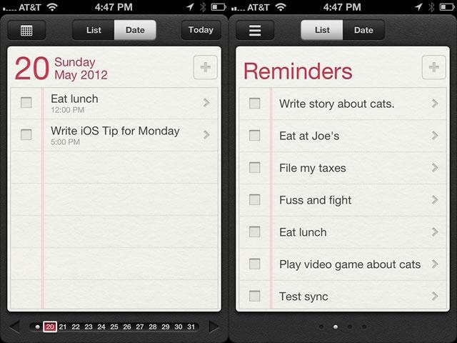 Utilizzare Reminders iPhone