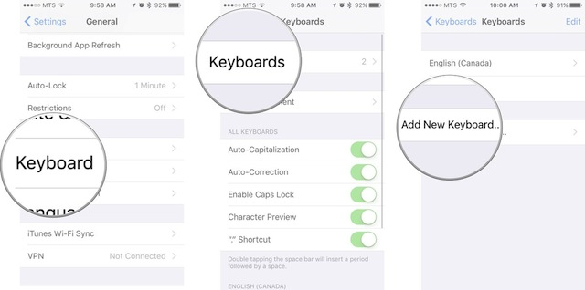 Personalizzare Tastiera iPhone