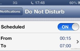 iPhone Non Disturbare