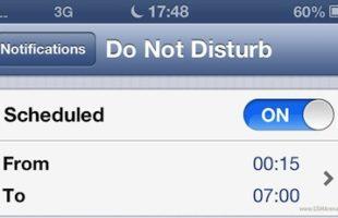 iPhone Non Disturbare