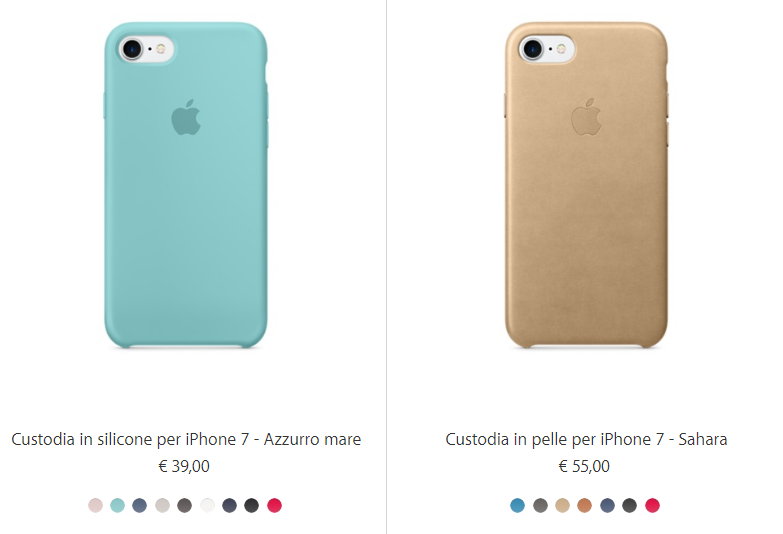 custodia e pellicola iphone 7