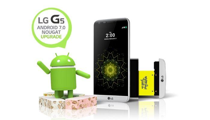 Aggiornamento Nougat 7.0 LG G5