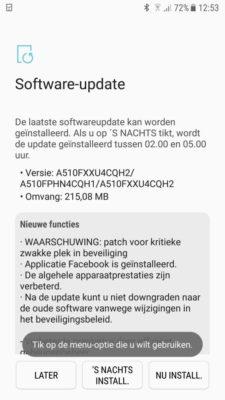 Aggiornamento Samsung Galaxy A5 2017