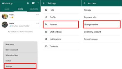 Cambiare numero telefono in Whatsapp senza perdere chat