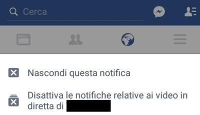 Come disattivare le notifiche di un post su Facebook